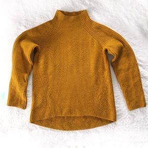 Madewell Rust Orange Ribbed Mockneck Sweater Small
